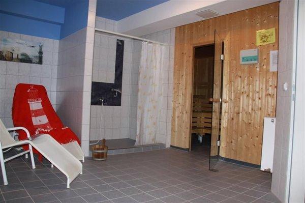 Blick in die großzügige Sauna