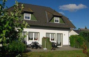 Ansicht Terrasse unserer Ferienwohnung in Pantow auf Rügen zwischen Zirkow und Binz