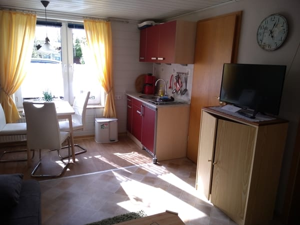 Wohn- Schlafzimmer mit integrierter Küche