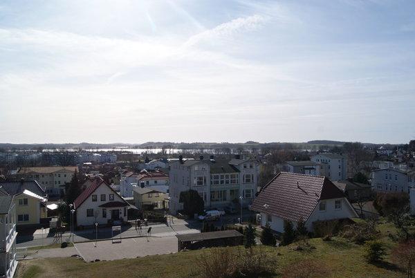 Blick von der Ferienwohnung über Sellin/auf den Selliner See