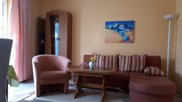Wohnraum Oben unserer Ferienwohnung in Pantow auf Rügen zwischen Zirkow und Binz