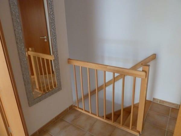 Treppe von den Schlafzimmern nach unten