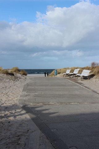 Direkte Lage am Strandaufgang
