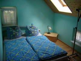Schlafbereich der ans Wohnzimmer grenzt