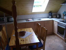 Wohnküche mit Aufgang zum zweiten Schlafbereich