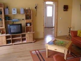 Wohnzimmer mit Duchgang zur Wohnküche