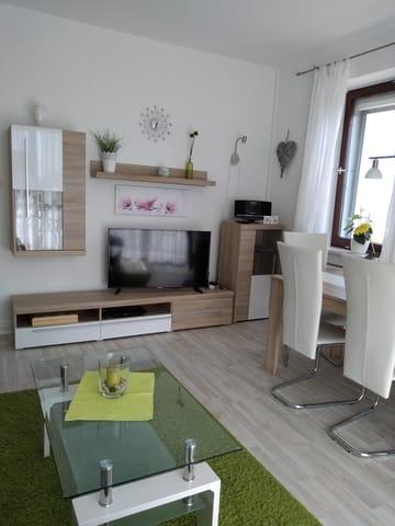 Wohnzimmer Fewo Meerblick.