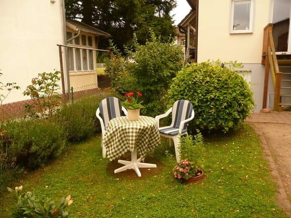 Sitzecke auf dem Hof
