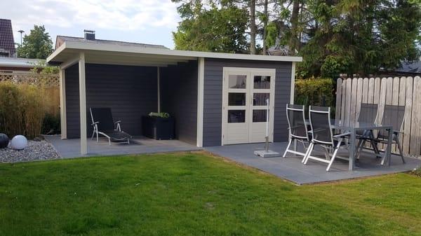 Gartenhaus mit Sonnenterrasse