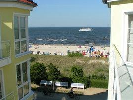 Blick auf die Ostsee vom Westbalkon.