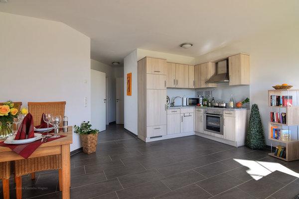 Der Ess.-und Küchenbereich ist großzügig und komfortabel ausgestattet.