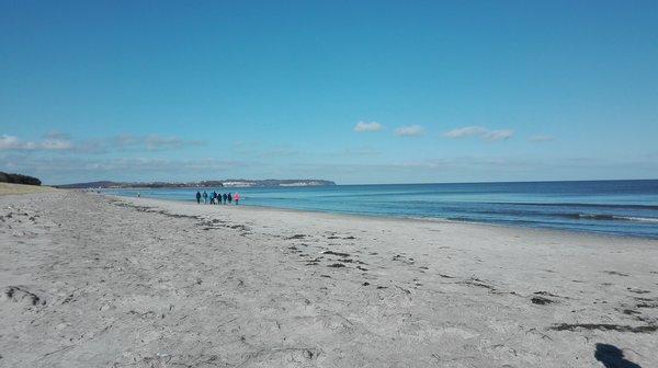 "Blick vom Strand zum ""Nordperd"""
