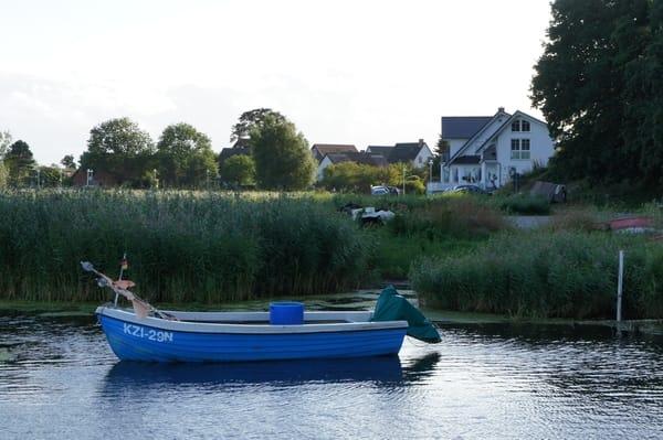 Blick vom Fischerhafen zu Ihrer Unterkunft