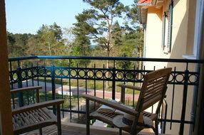 2. Balkon vom Schlafzimmer aus, mit Meerblick