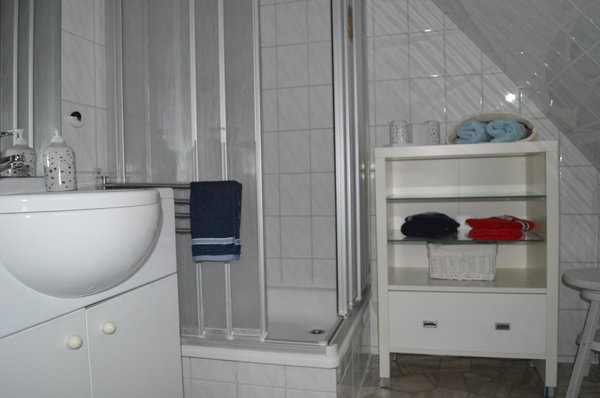 Das kleine aber geräumige Badezimmer