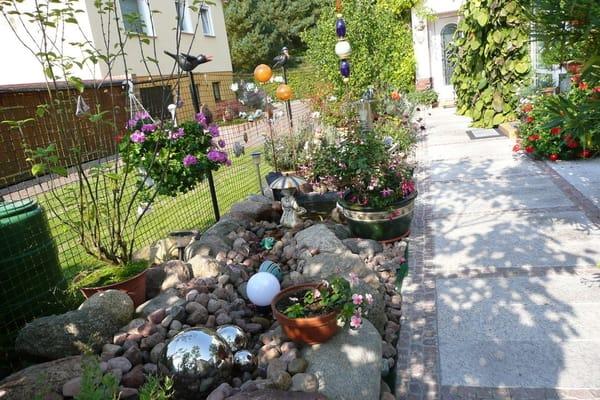 Garten und seperater Eingang zur Ferienwohnung