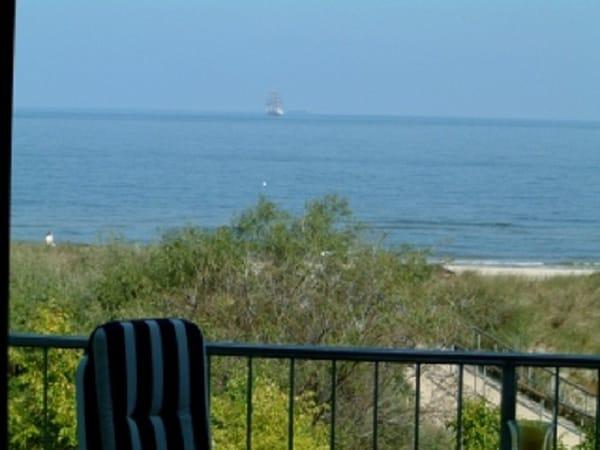 Blick von einem der beiden Balkone: mehr Meer geht nicht!