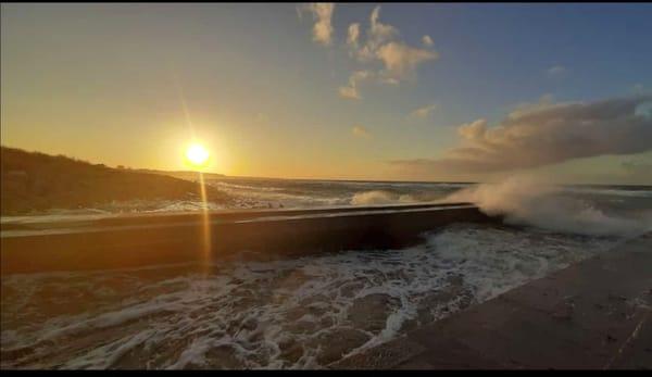 Sonnenuntergang bei Storm