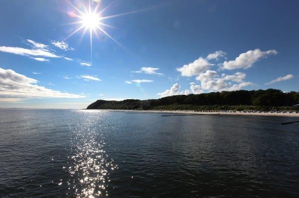 Blick zum Strand von Koserow