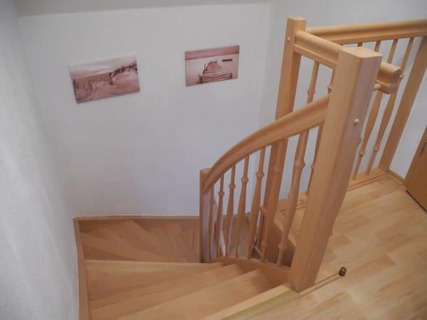 Das Treppenhaus von Oben gesehen