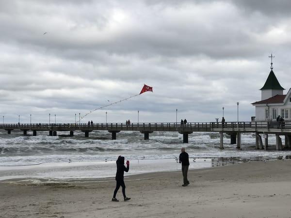 Drachensteigen am Ahlbecker Strand