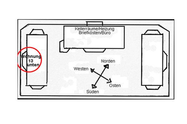 """Lage der Ferienwohnung 13 in der Ferienanlage """"Reethaus Boddenblick"""""""