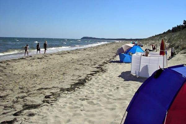 Strand bei Lobbe, 5 km von Alt Reddevitz entfernt