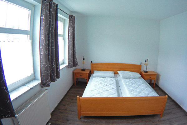 Das Schlafzimmer mit Doppett