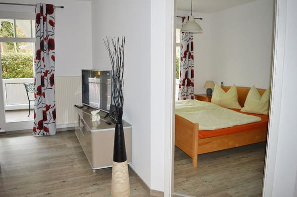 Blick auf Wohn-/Schlafzimmer