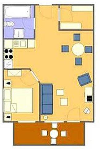 Grundriss der Ferienwohnungen Typ 1