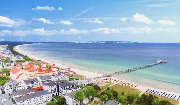 nur zwei Minuten zu Fuß - der Strand von Binz