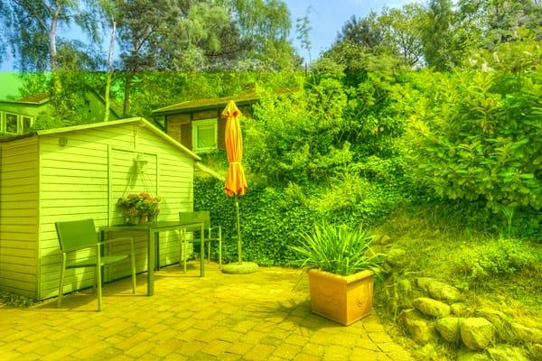 Terrasse zum Sonne tanken