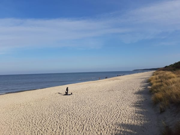 Am Strand im März 2020