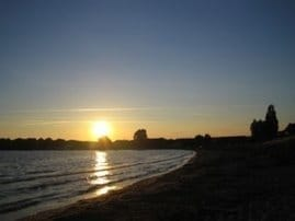 Sonnenuntergang im Dorf
