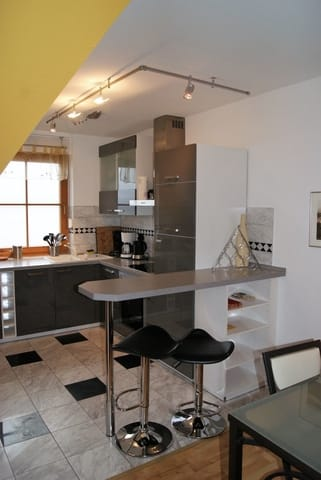 die neue Küche mit Essbar
