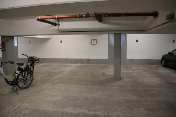 Parkplatz 7 in der Tiefgarage