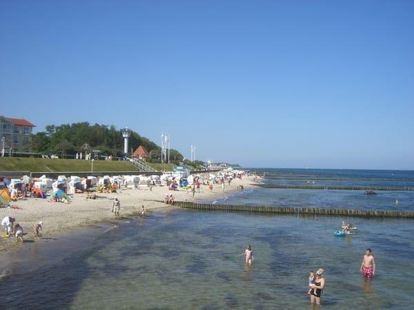 Strand an der Seebrücke