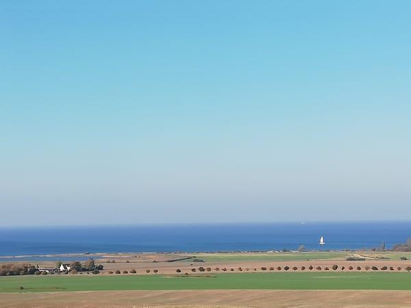 Blick vom Bastorfer Leuchtturm