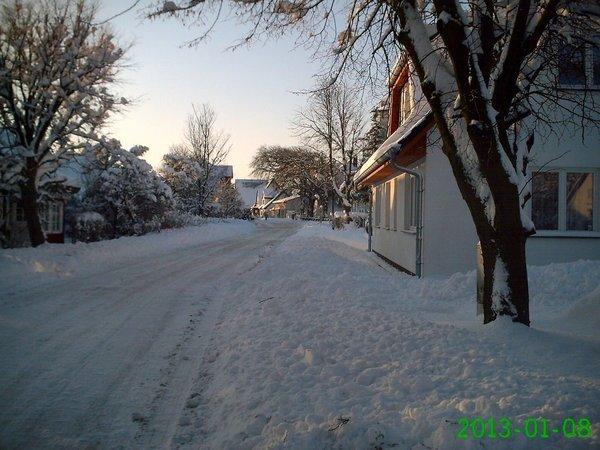 unsere Straße im Winter
