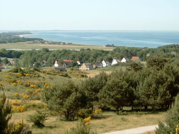 Blick über die Insel und die Ostsee
