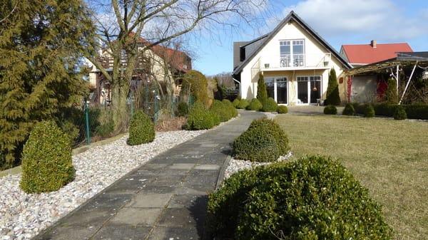 Gartenansicht des Hauses