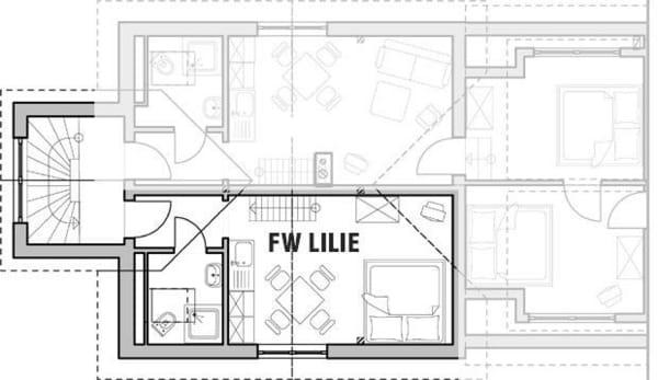 Grundriss des Wohnraumes