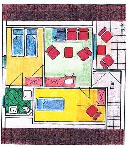 Grundriss Dachgeschoss Wohnung 2