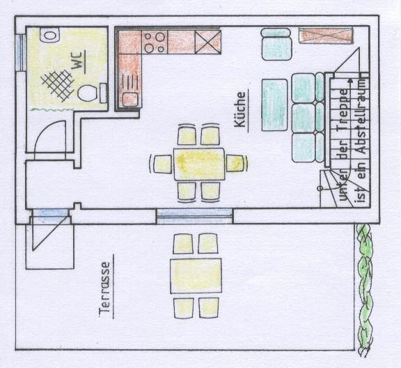 Grundriss Erdgeschoss Wohnung 2