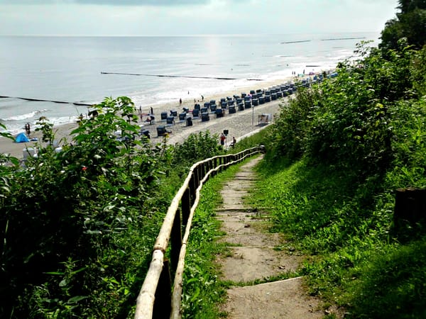 Strandabgang in Koserow