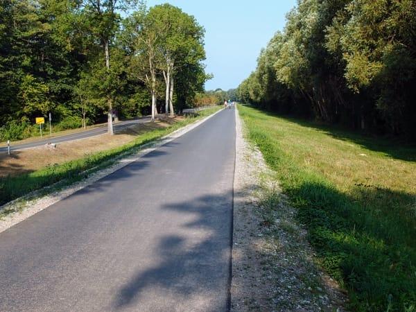 Fahrradweg nach Zempin