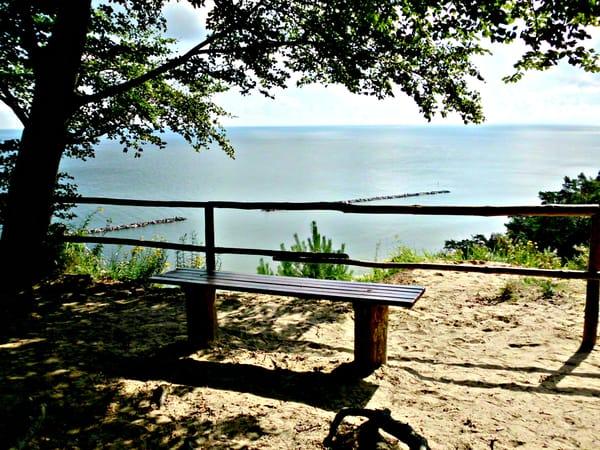 Romantischer Ausblick vom Streckelsberg auf die Ostsee