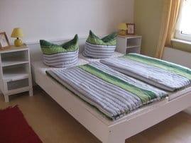 Schlafbereich, Bettwäsche wird von uns kostenlos zur Verfühgung gestellt
