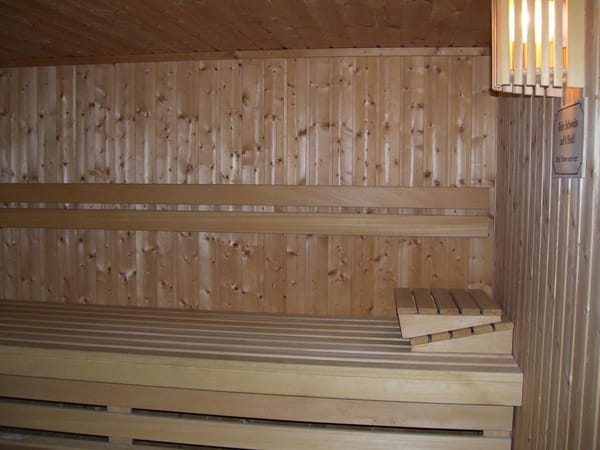 Sauna in der Wohnanlage