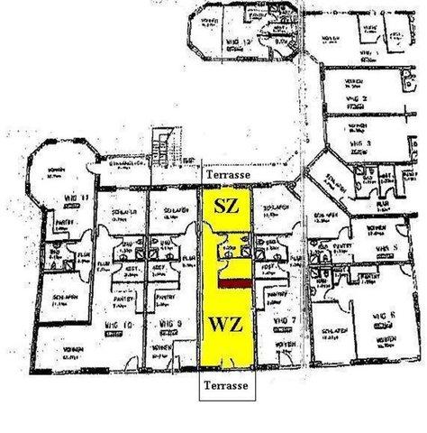Grundriss Wohnanlage und Lage unserer Wohnung Nr.8